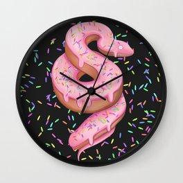 Snake yummy doughnut confetti  Wall Clock