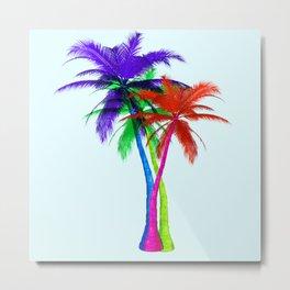 Neon (palm) trees Metal Print