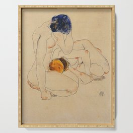 Egon Schiele - Two Friends  Serving Tray