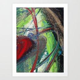 Red Saturn Art Print