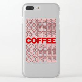 Coffee Coffee Coffee Clear iPhone Case