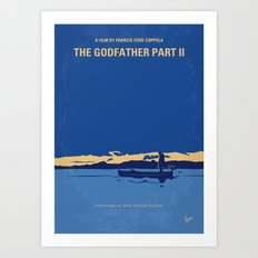 No686-2 My Godfather II minimal movie poster Art Print
