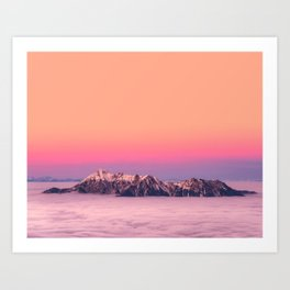 Silence over the Mountains Art Print