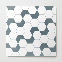 Geometric Pattern #46 (gray hexagons) Metal Print