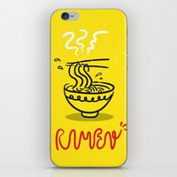 ramen iPhone & iPod Skins featuring RAMEN by OHOO SIX