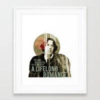 oscar wilde Framed Art Prints featuring Oscar Wilde by LottaLuckDesign