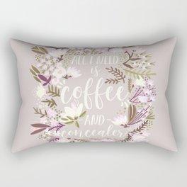 Coffee & Concealer – Spring Palette Rectangular Pillow