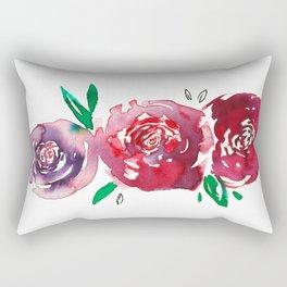 Three Red Christchurch Roses Rectangular Pillow