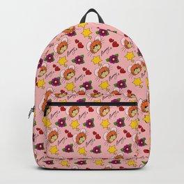Hammy Pattern in Peach Pink Backpack