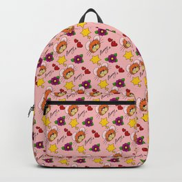 Hammy Pattern in Peach Pink Backpack
