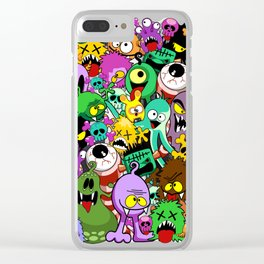 Monsters doodles char Clear iPhone Case