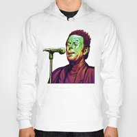 tom waits Hoodies featuring Waits by Mark Matlock