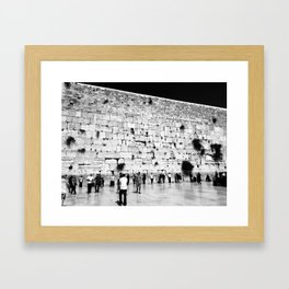 The Western Wall in the Old City, Jerusalem, Israel Framed Art Print