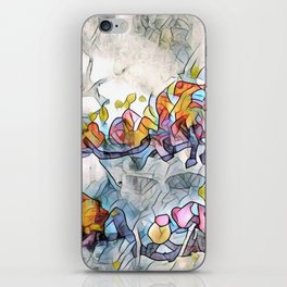 Splashes Of Stained Glass by CheyAnne Sexton iPhone Skin