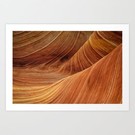 Sandstone Waves Art Print