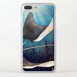 Metallic Stingray Clear iPhone Case
