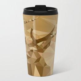 Digital Trophies II - Abstract Art Low Poly Animals Deer Metal Travel Mug