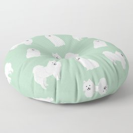 Japanese Spitz pure breed dog pattern pet gifts for dog lovers Floor Pillow