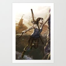My name is Lara Art Print
