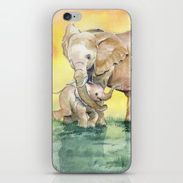Colorful Mother's Love - Elephant iPhone Skin