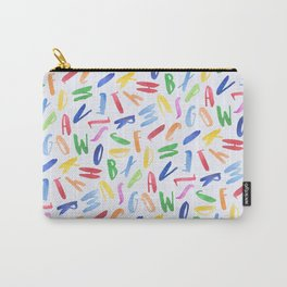 Watercolor Alphabet Pattern Carry-All Pouch