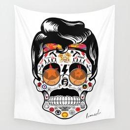 SKULL ROCK / Famous Musical Groups - Symbols - Digital Illustration Art - Pop Art - Wall Decor Wall Tapestry