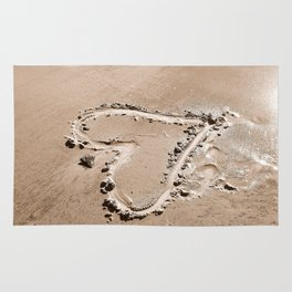 Heart in the sand Rug