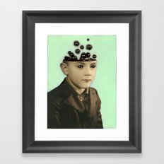 Fur Brains - Hand Painted Vintage Photography Framed Art Print