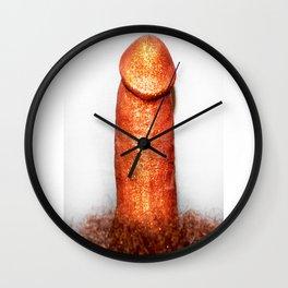 GLITTER C*CK Wall Clock