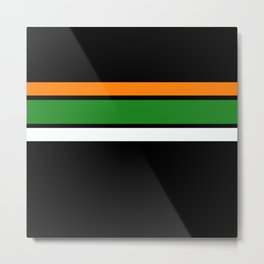 Team Colors 2,,,,orange,green Metal Print