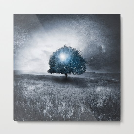 Energy from the blue tree Metal Print