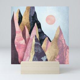 Mauve Peaks Mini Art Print