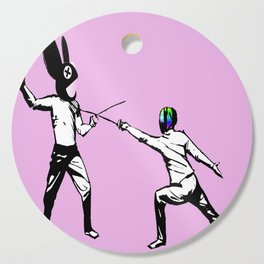 music battle fencing Cutting Board