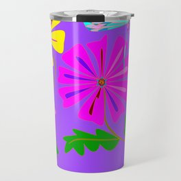 A Spring Floral Design with a Dragonfly Travel Mug