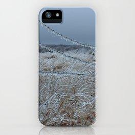 Kansas Icy Fence iPhone Case