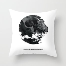 """A """"that's no Moon"""" shaped pool (IX) Throw Pillow"""
