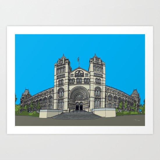 The Natural History Museum, London Art Print