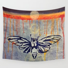 Eclipse Cicada Wall Tapestry