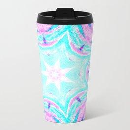 Pink & Blue Star Explosion Light Travel Mug