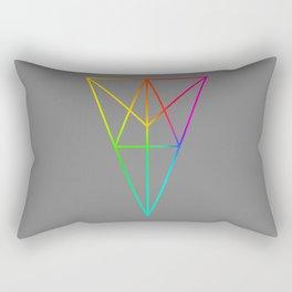 Rainbow Geometry Rectangular Pillow