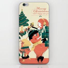 CHRISTMAS POSTCARD iPhone Skin