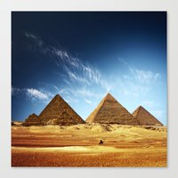 egypt Canvas Prints featuring Egypt by eARTh