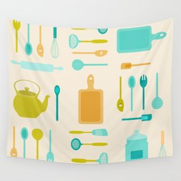 AFE Kitchen Utensils Pattern II Wall Tapestry