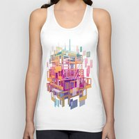 building Tank Tops featuring Building Clouds by FalcaoLucas
