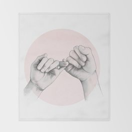 pinky swear // hand study Throw Blanket