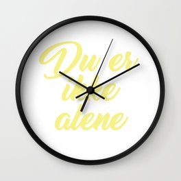 SKAM - Evak - Du er ikke alene // You're not alone Wall Clock
