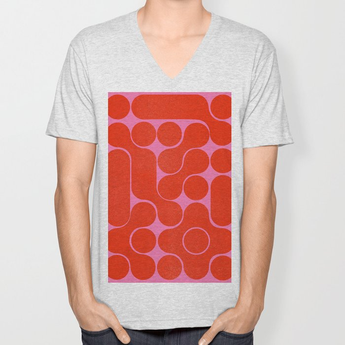 Abstract mid-century shapes no 6 Unisex V-Neck