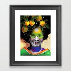 BAL MASQUÉ Framed Art Print