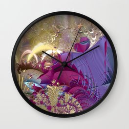 Feelings of being in love -- Fractal illustration Wall Clock