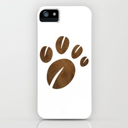 Coffee Bean Bear Paw iPhone Case
